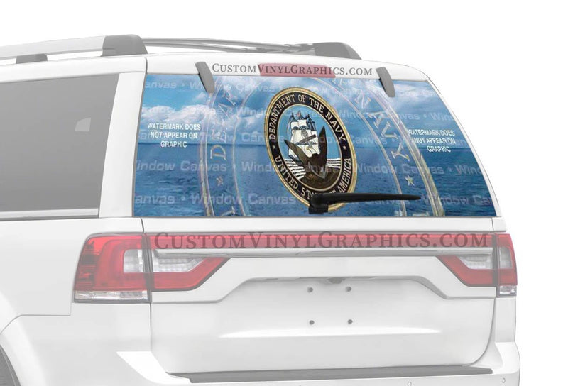Window Canvas Navy Pride Rear Window Graphic