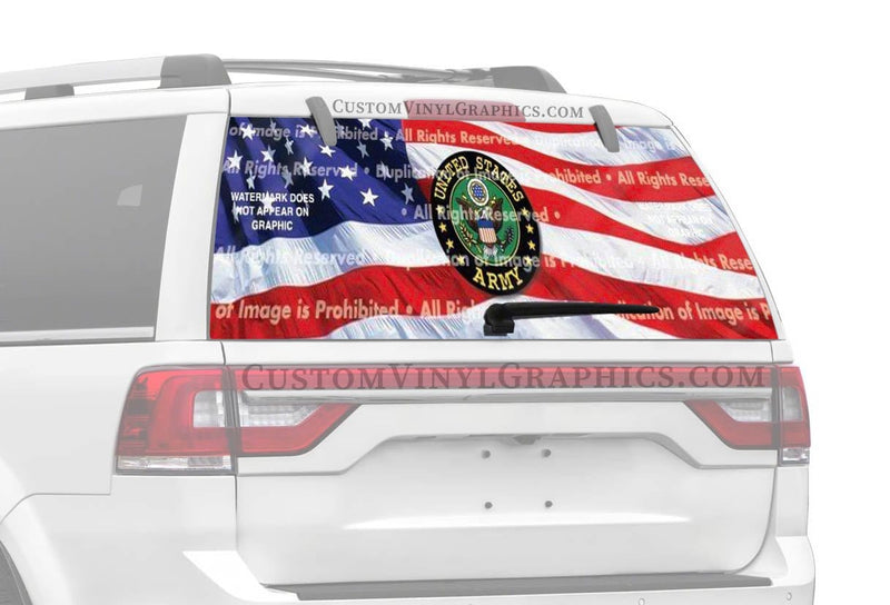 ClearVue Graphics US Army Rear Window Graphic