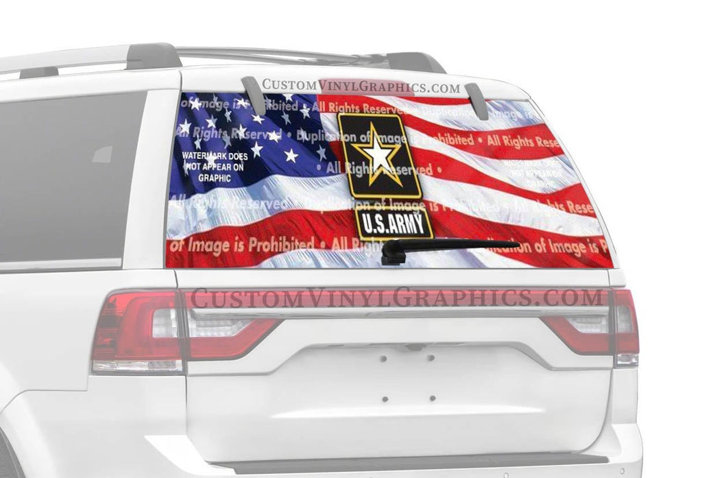 Window Canvas US Army 2 Rear Window Graphic