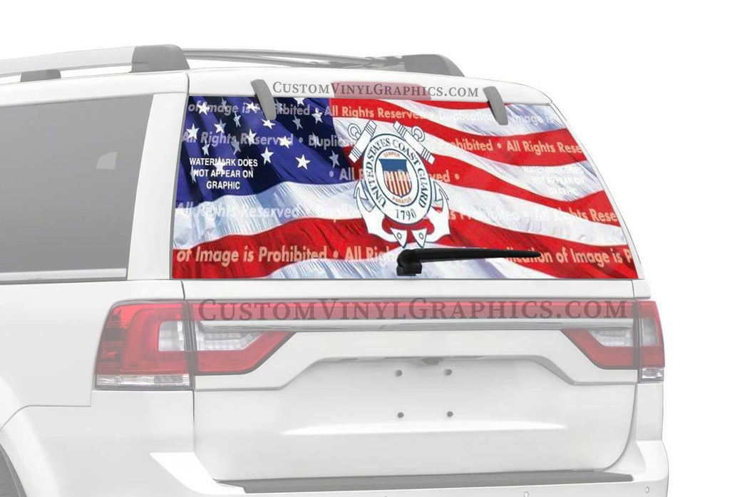 Window Canvas US Coast Guard 2 Rear Window Graphic