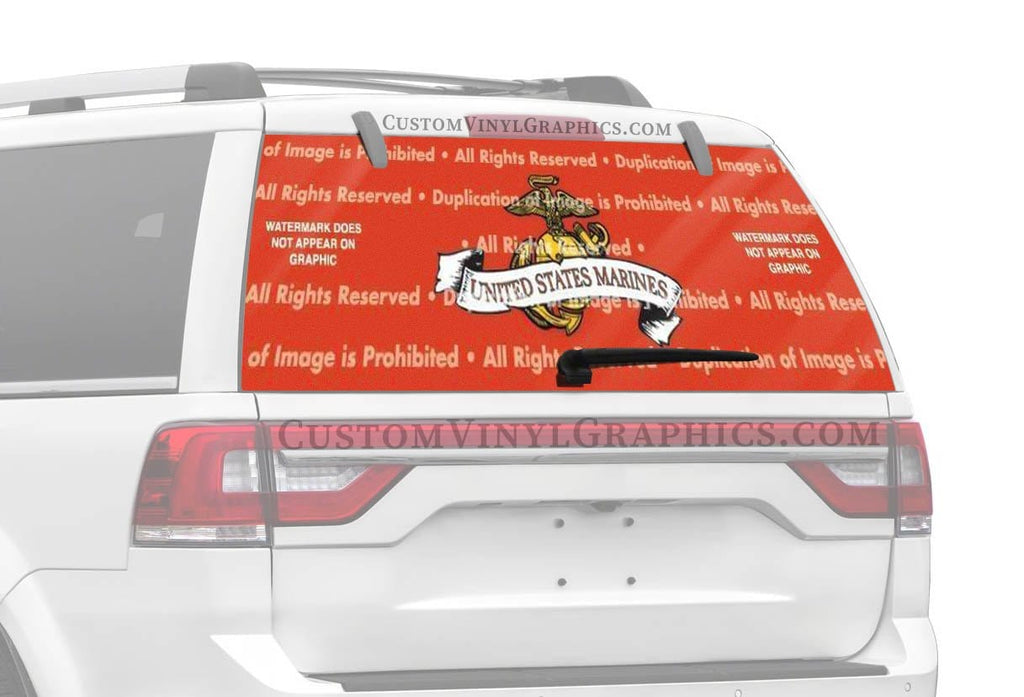 Window Canvas US Marines Rear Window Graphic
