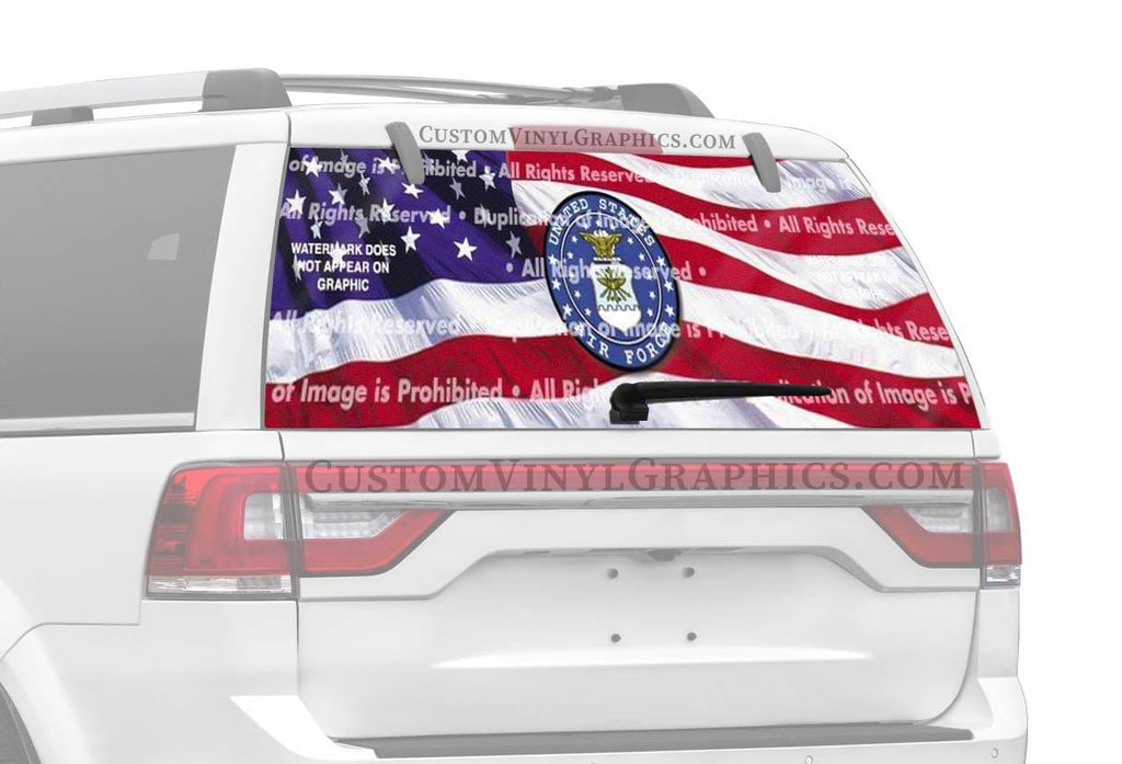 ClearVue Graphics US Air Force Rear Window Graphic