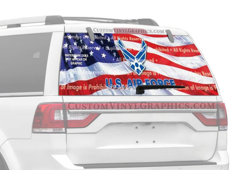 ClearVue Graphics US Air Force 2 Rear Window Graphic