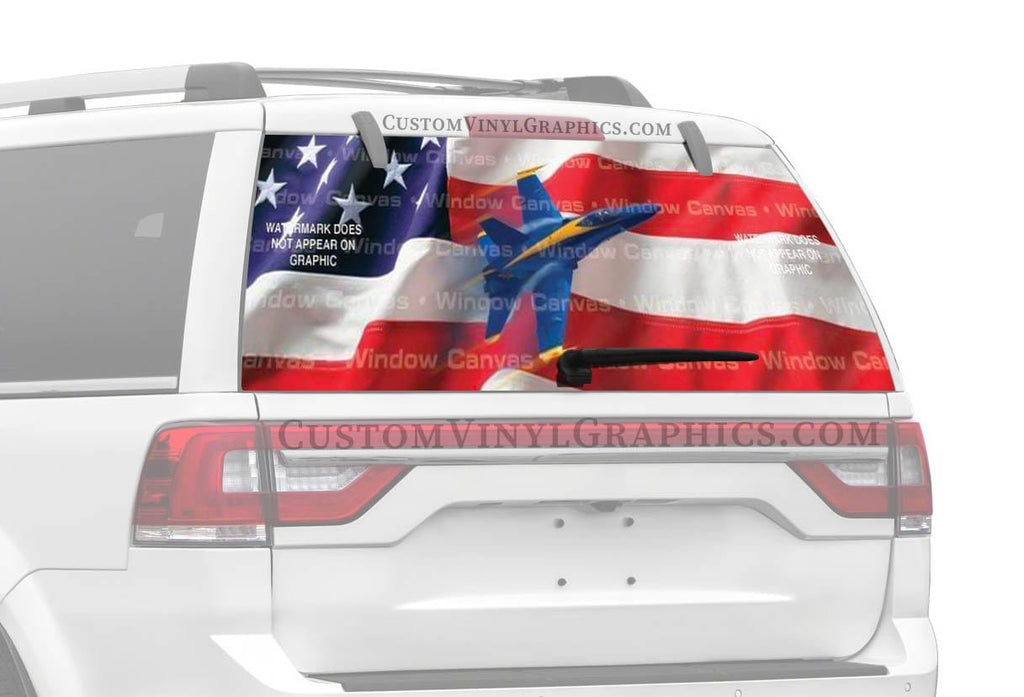 Window Canvas American Might Rear Window Graphic