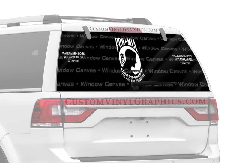 Window Canvas POW MIA Traditional Rear Window Graphic