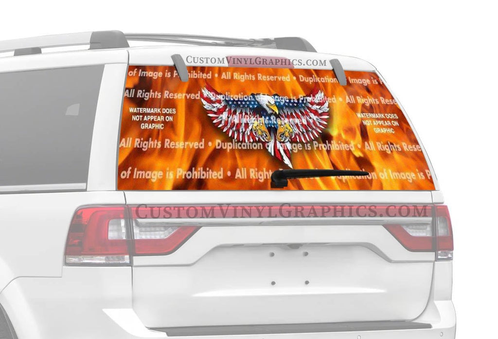 ClearVue Graphics Eagle Attack Rear Window Graphic