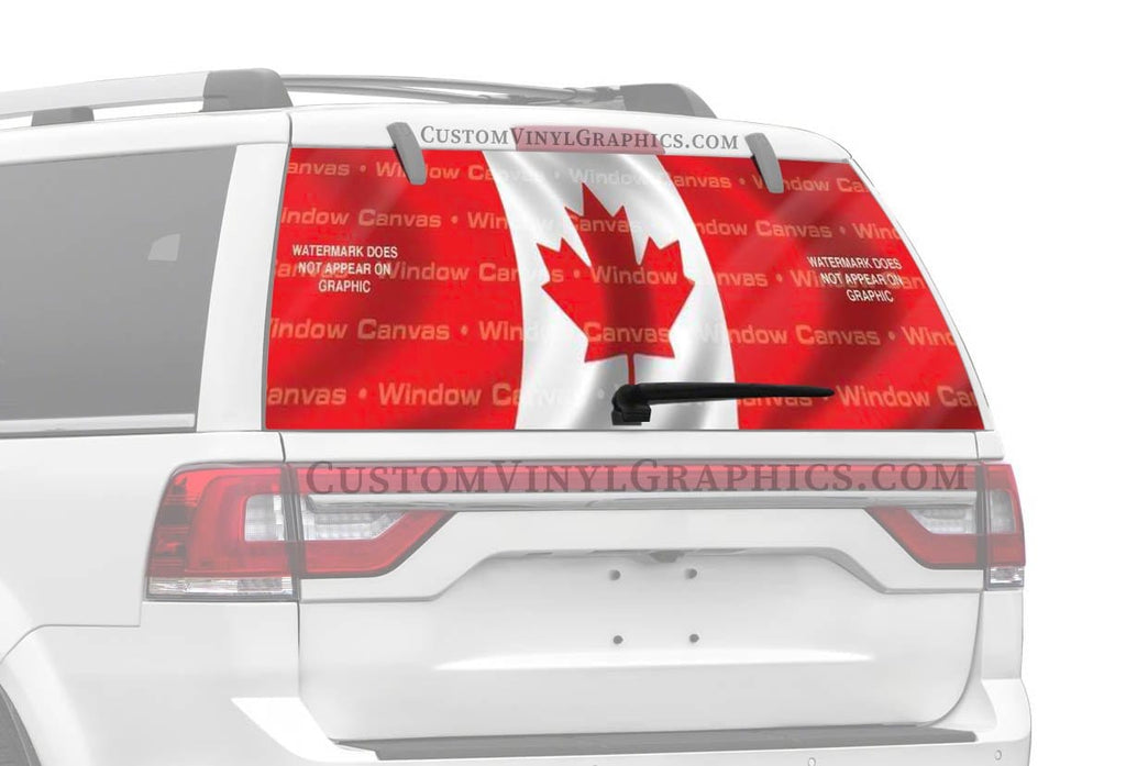 Window Canvas Canada Rear Window Graphic
