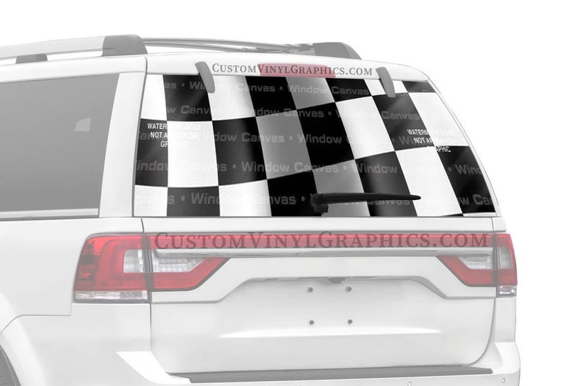 Window Canvas Finish Line Rear Window Graphic