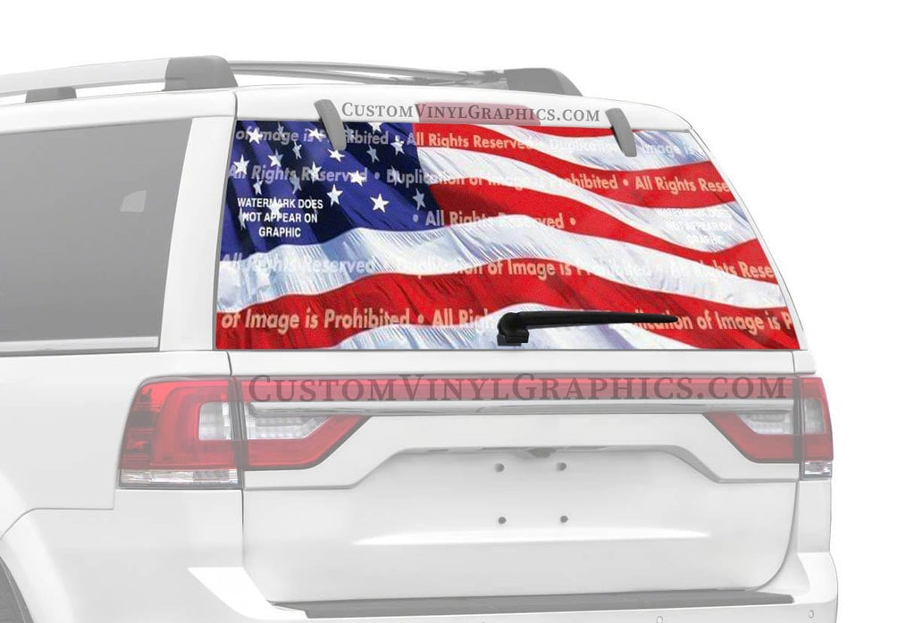ClearVue Graphics US Flag 2 Rear Window Graphic