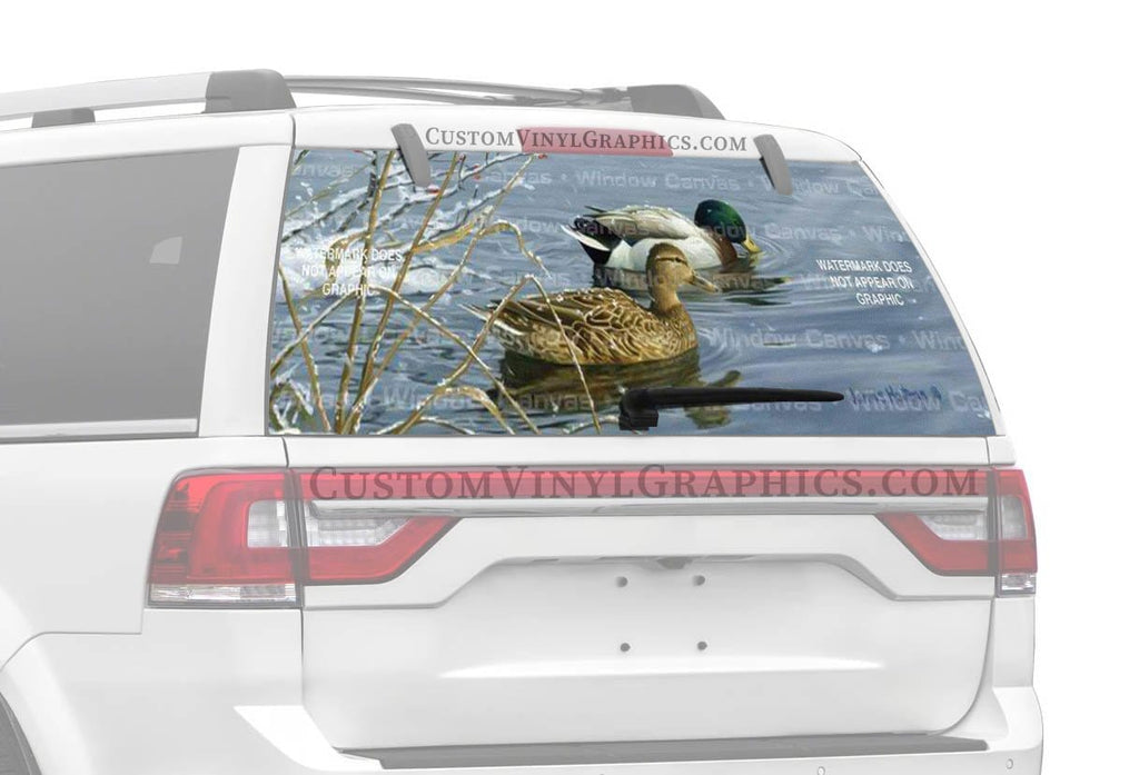 Window Canvas Winter Waters Rear Window Graphic