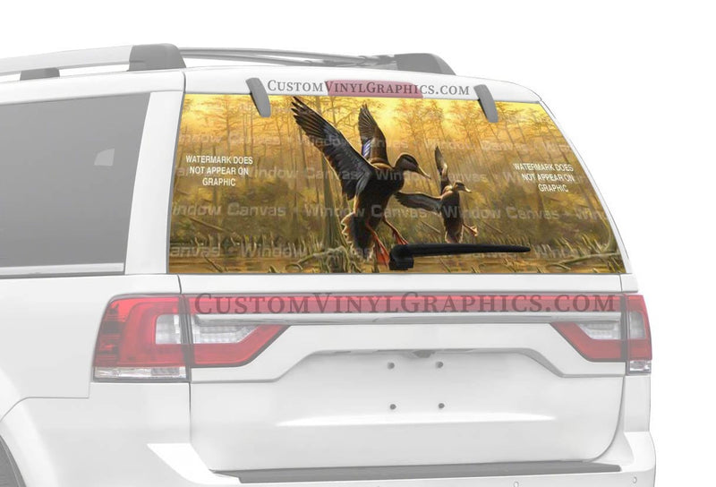 Window Canvas Black Ducks Rear Window Graphic
