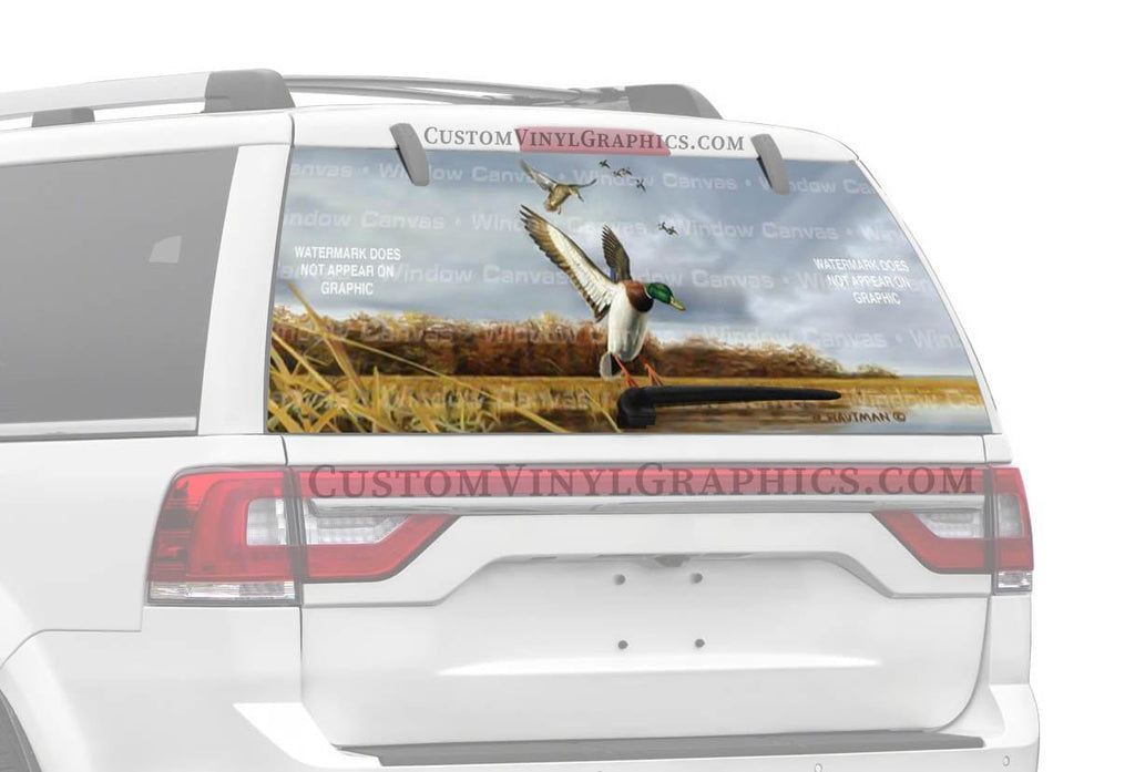 Window Canvas Mallard Flock Rear Window Graphic