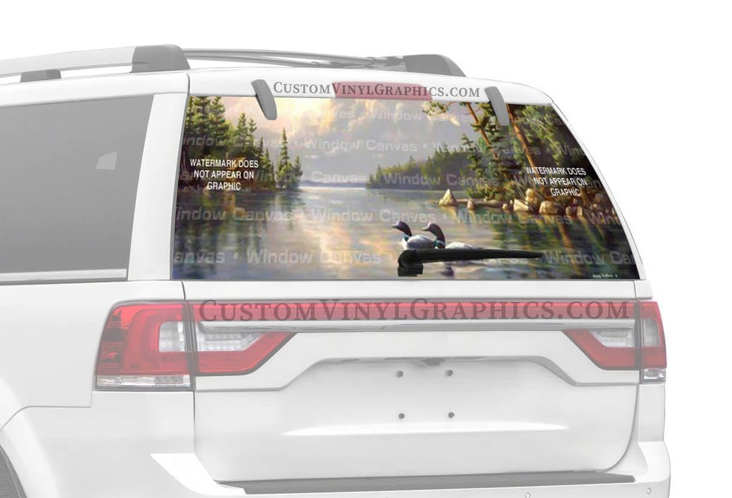 Window Canvas Summertime Loons Rear Window Graphic