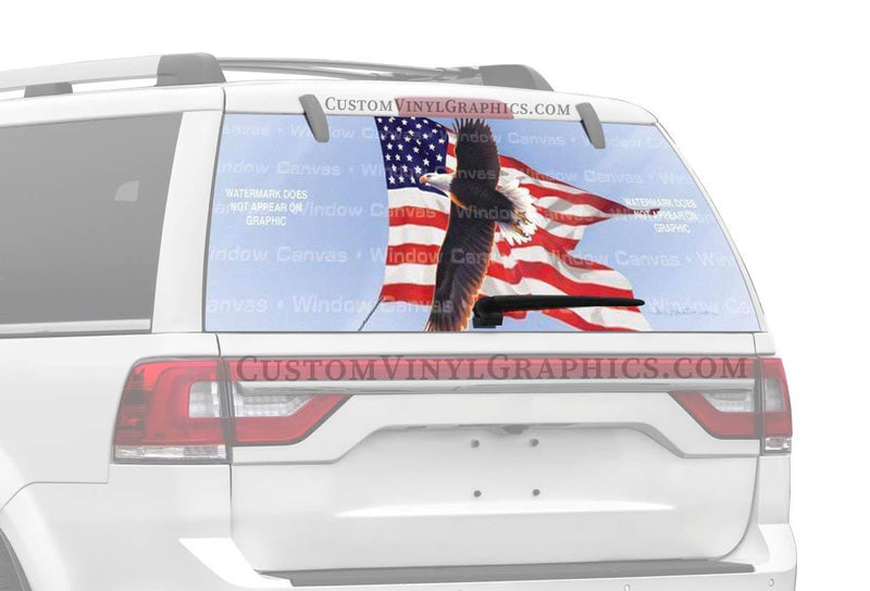 Window Canvas American Flying Eagle Rear Window Graphic