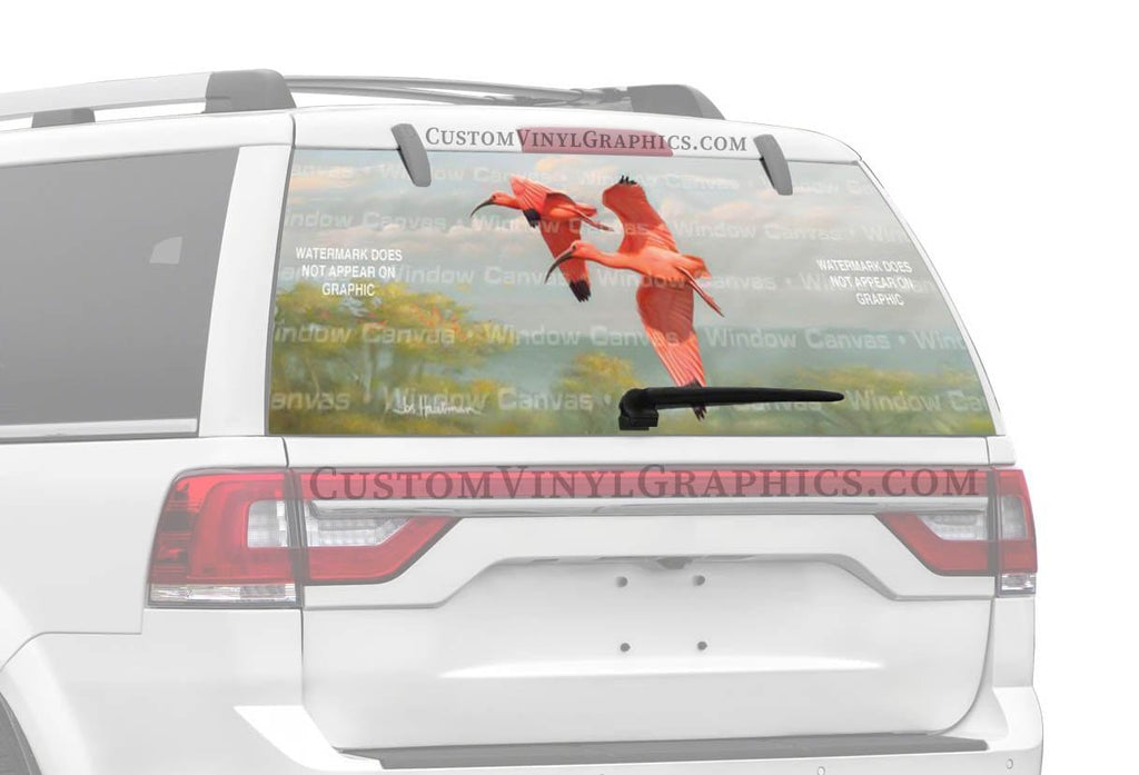 Window Canvas Flamingos Rear Window Graphic