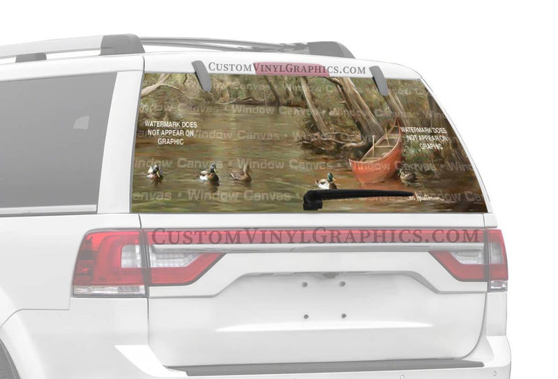 Window Canvas Cedar And Mallards Rear Window Graphic