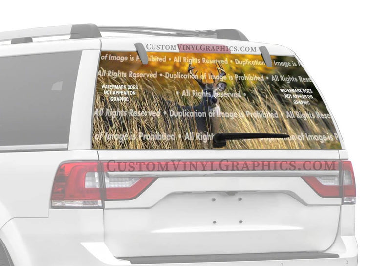 Window Canvas Autumn Buck Rear Window Graphic