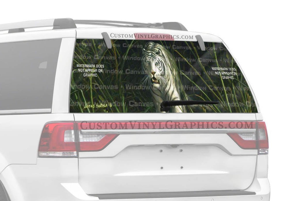 Window Canvas White Tiger Rear Window Graphic