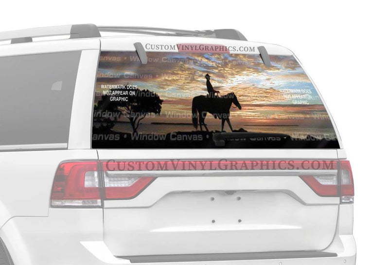 Window Canvas Lone Ranger Rear Window Graphic