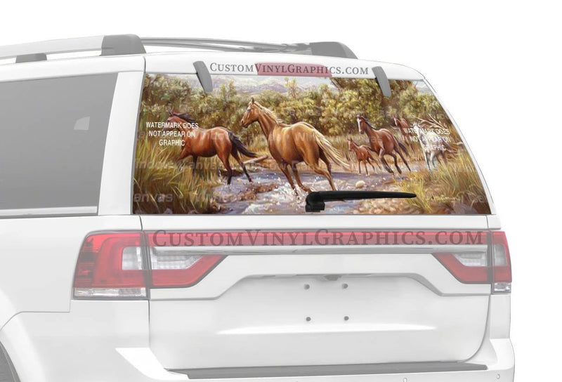 Window Canvas Horse at the Crossing Rear Window Graphic