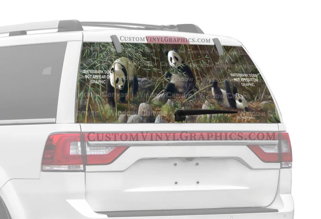 Window Canvas Three Pandas Rear Window Graphic