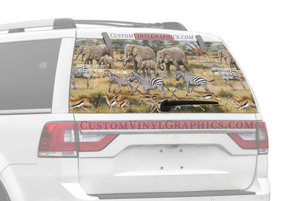 Window Canvas African Safari Rear Window Graphic