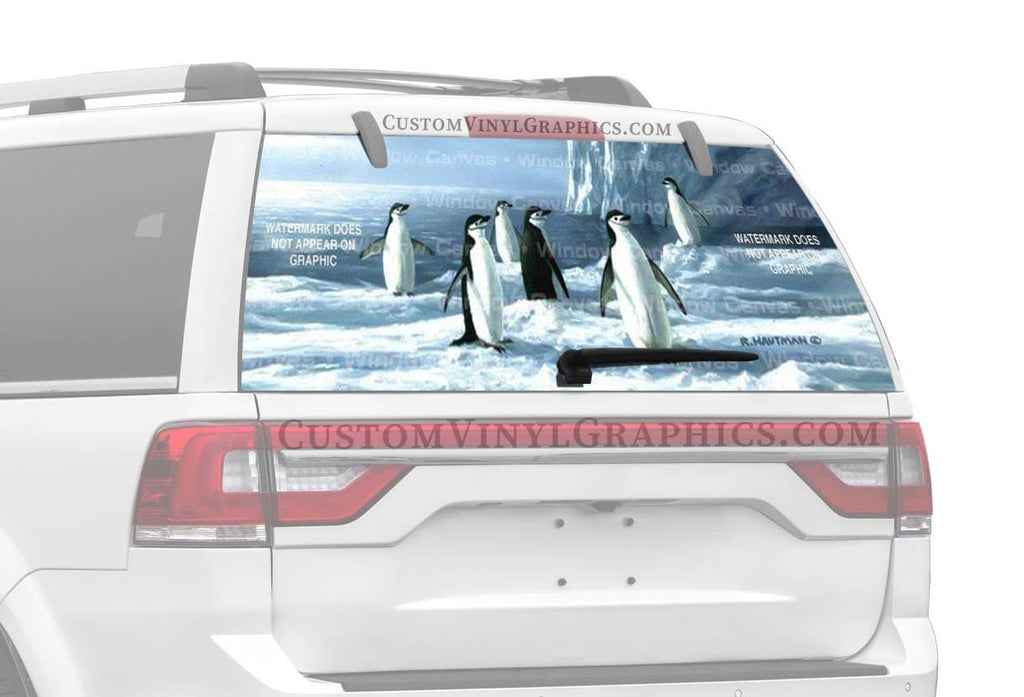 Window Canvas Chin Strap Penguins Rear Window Graphic