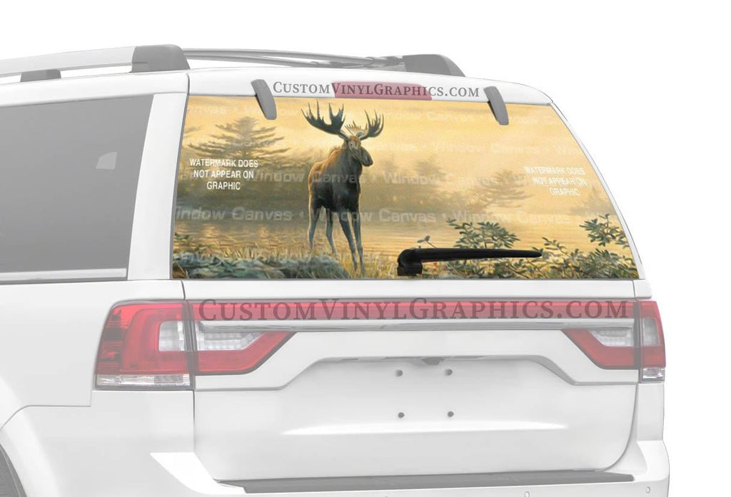 Window Canvas Northwoods Moose Rear Window Graphic