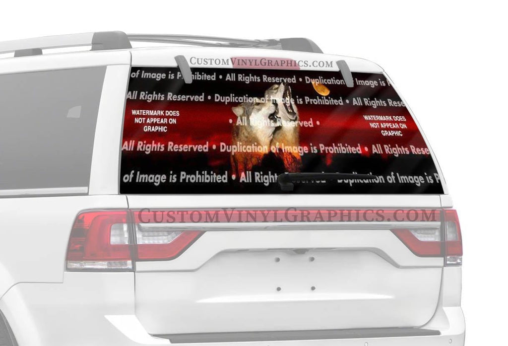 ClearVue Graphics Alpha Male Howl Rear Window Graphic