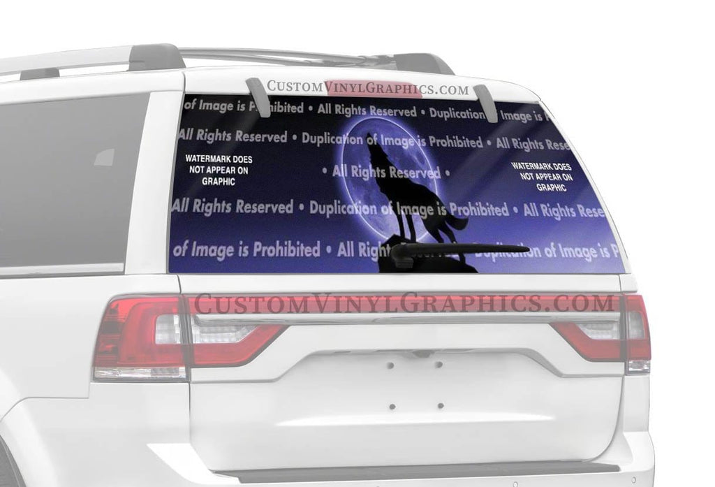 ClearVue Graphics Howling at the Moon Rear Window Graphic