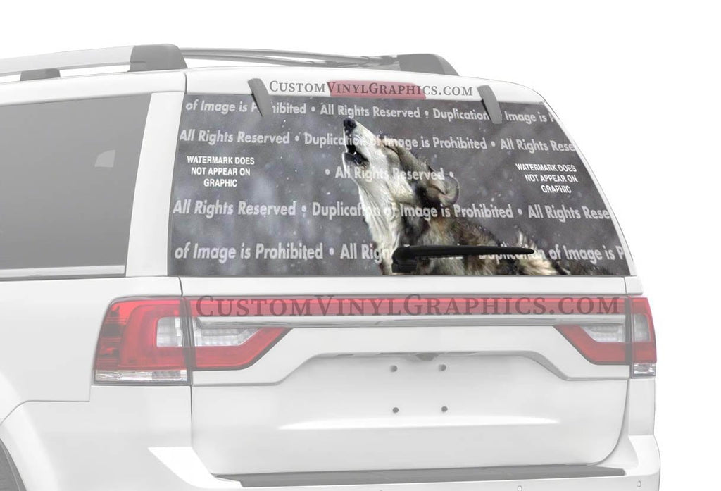 ClearVue Graphics Howling in the Snow Rear Window Graphic