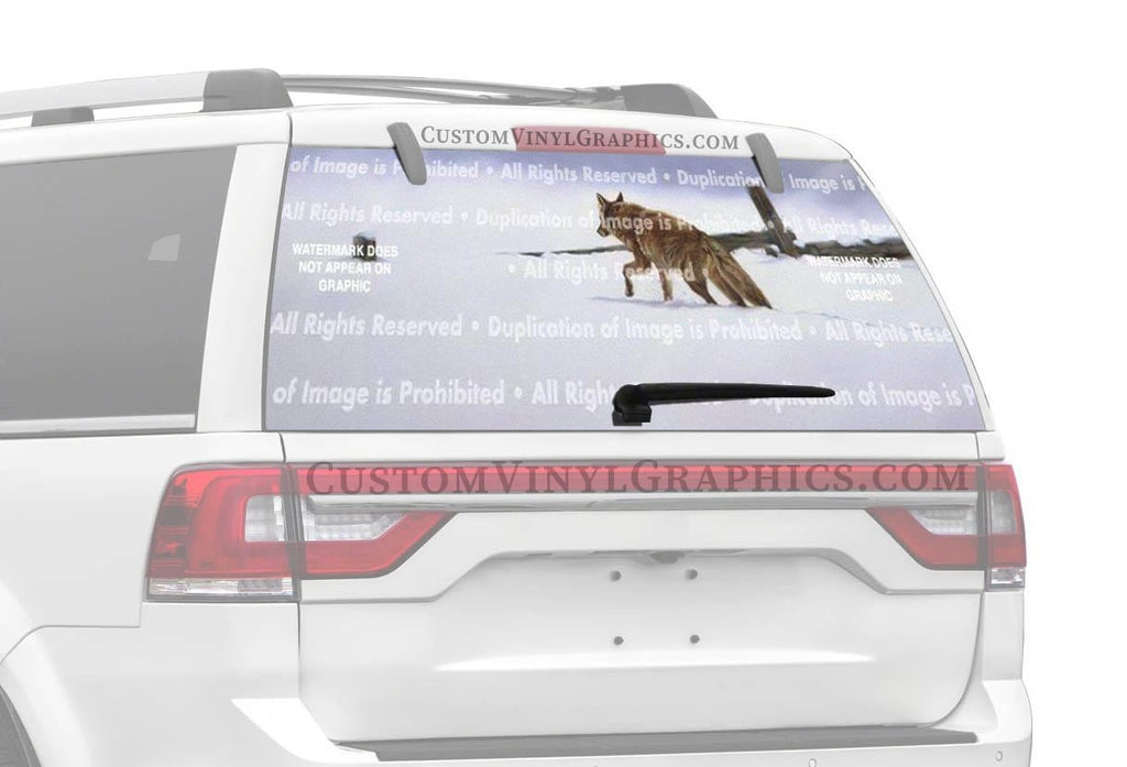 ClearVue Graphics Lonely Hunter Rear Window Graphic