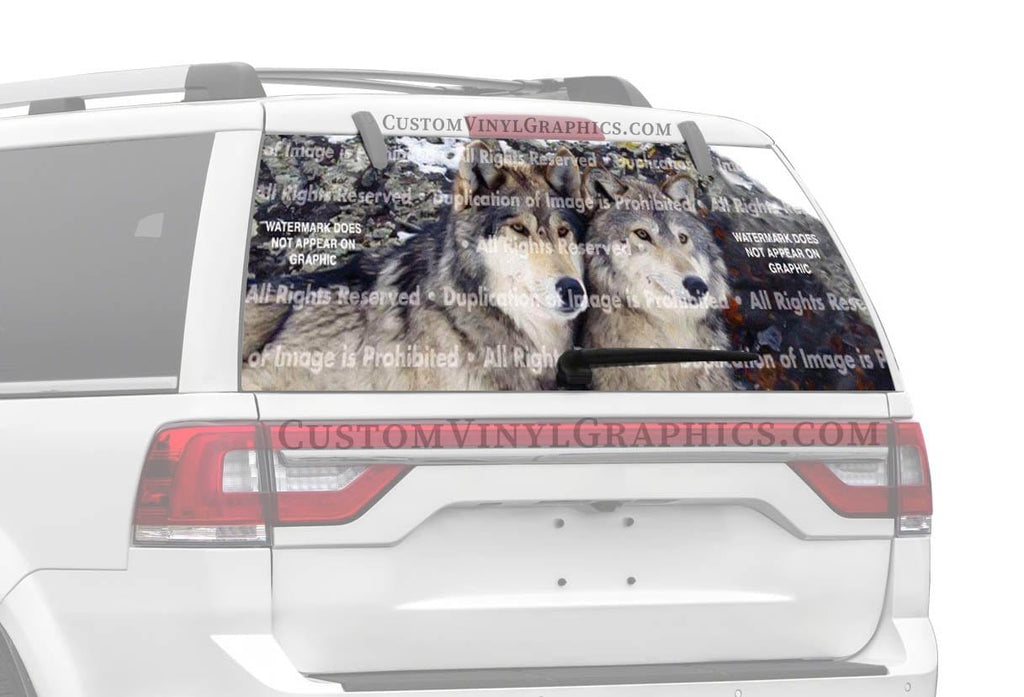 ClearVue Graphics Wolves 1 Rear Window Graphic