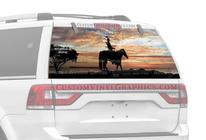 Window Canvas Sunset Tracker Rear Window Graphic