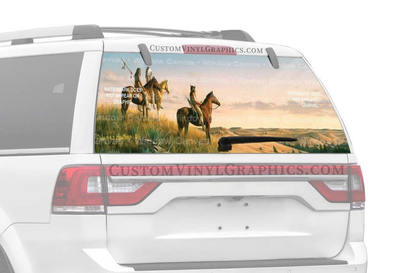 Window Canvas Three Indians Rear Window Graphic