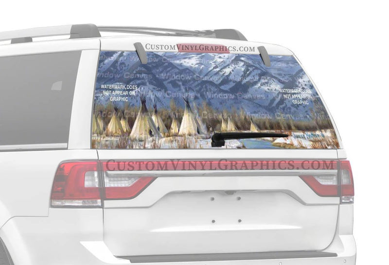 Window Canvas Running Wild Rear Window Graphic