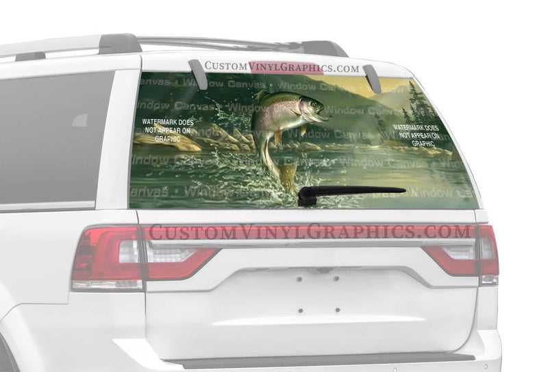Window Canvas Rainbow Trout Rear Window Graphic