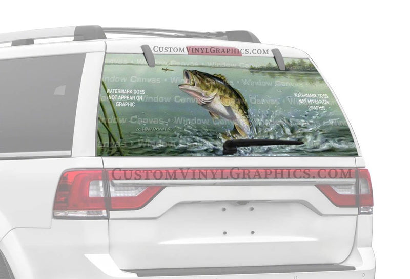Window Canvas Large Mouth Bass Rear Window Graphic