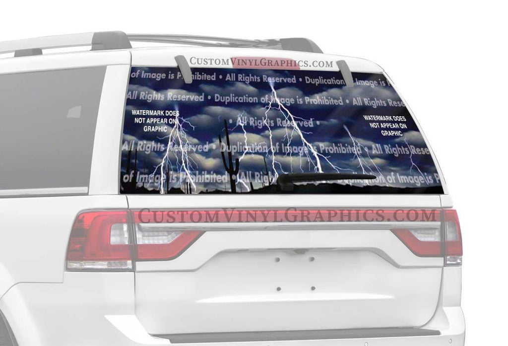 Window Canvas Lightning Storm Paradiso Rear Window Graphic