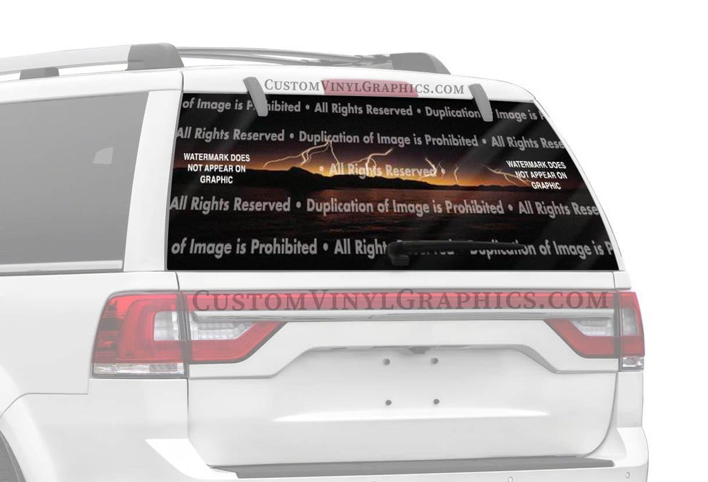 Window Canvas Ocean Lightning Rear Window Graphic