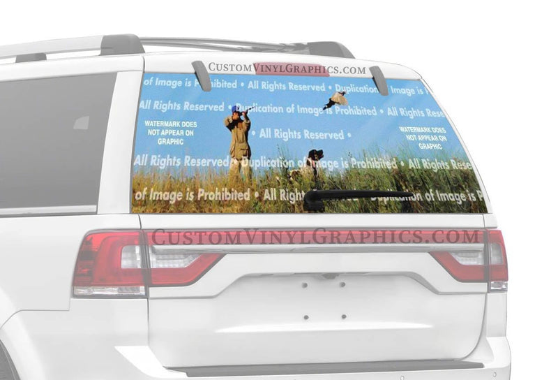 ClearVue Graphics Pheasant 3 Rear Window Graphic