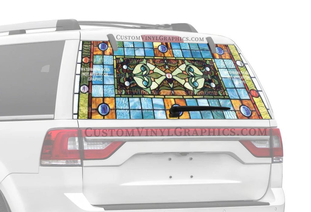 Window Canvas Stained Glass Rear Window Graphic