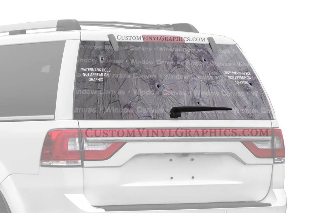 Window Canvas Bullet Holes Rear Window Graphic