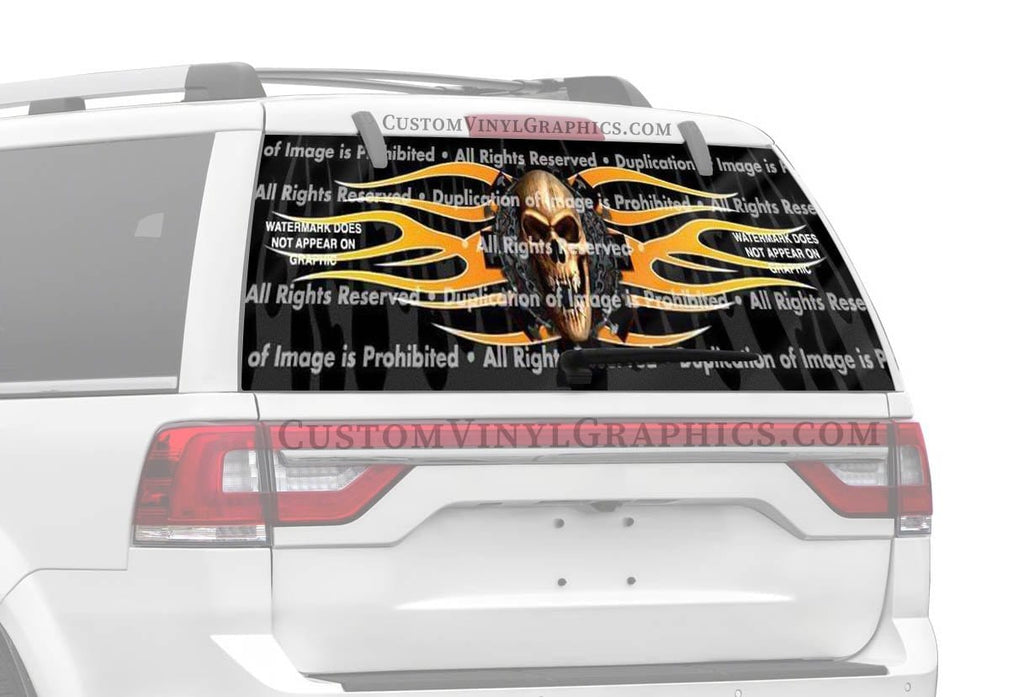 ClearVue Graphics Fear No Evil Rear Window Graphic