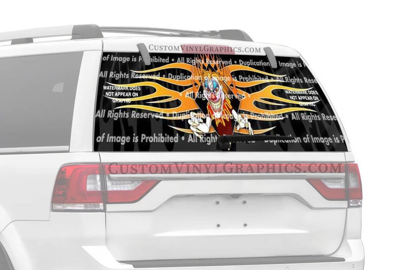 ClearVue Graphics Psycho Clown Rear Window Graphic
