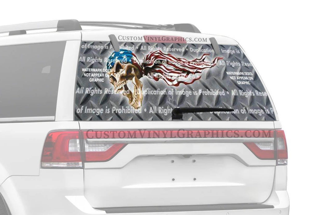 ClearVue Graphics USA Skulls Rear Window Graphic