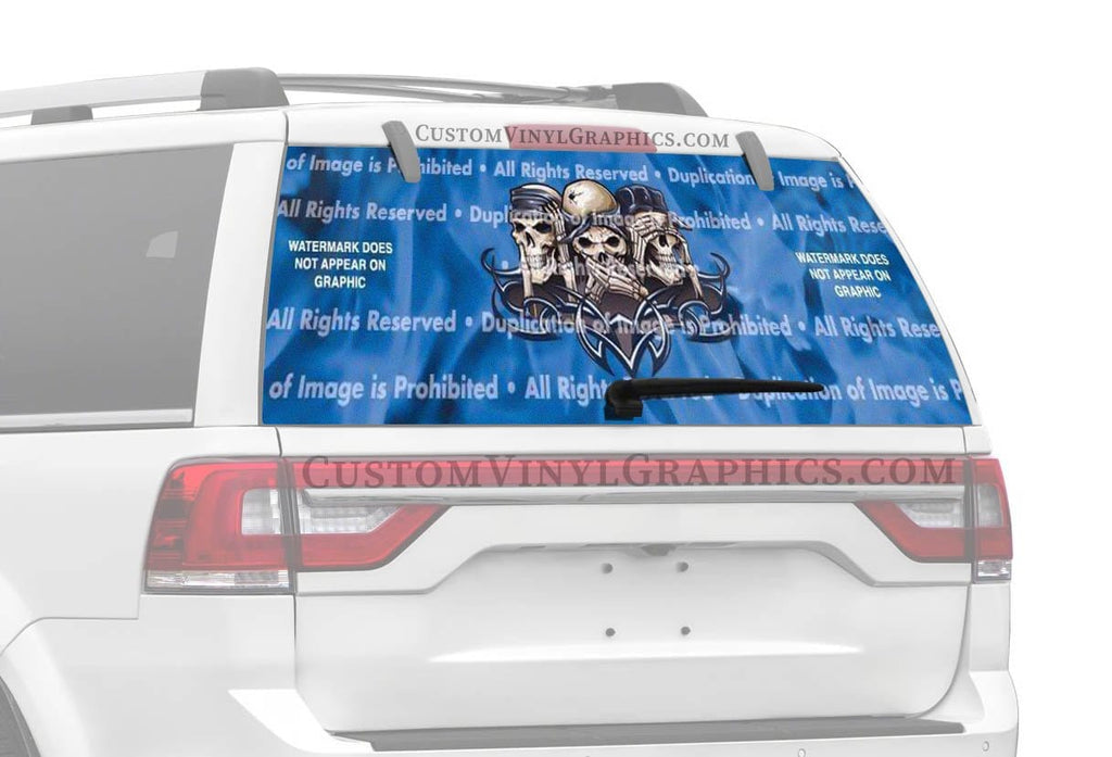 ClearVue Graphics Hear Speak See Evil Rear Window Graphic