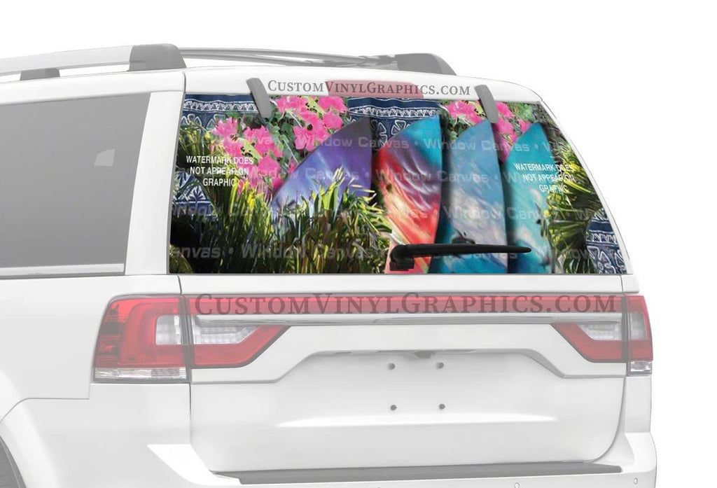 Window Canvas Surfs Up Rear Window Graphic