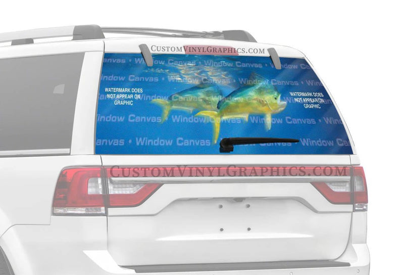 Window Canvas Mahi Mahi Rear Window Graphic