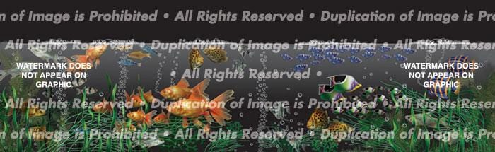 Aquarium Rear Window Graphic - Custom Vinyl Graphics